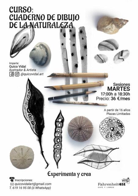 Cuaderno de dibujo de la Naturaleza: curso continuo