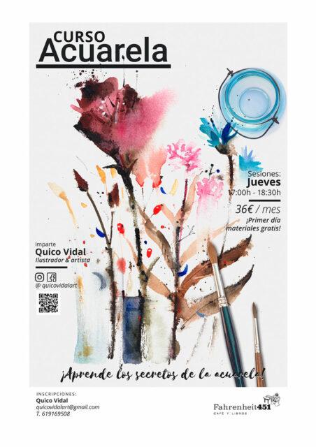 Curso continuo de Acuarela @ Fahrenheit451 Café y Libros
