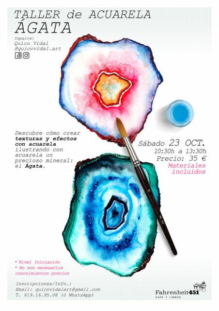 Taller de Texturas y Efectos con Acuarela: Ágata @ Fahrenheit451 Café y Libros