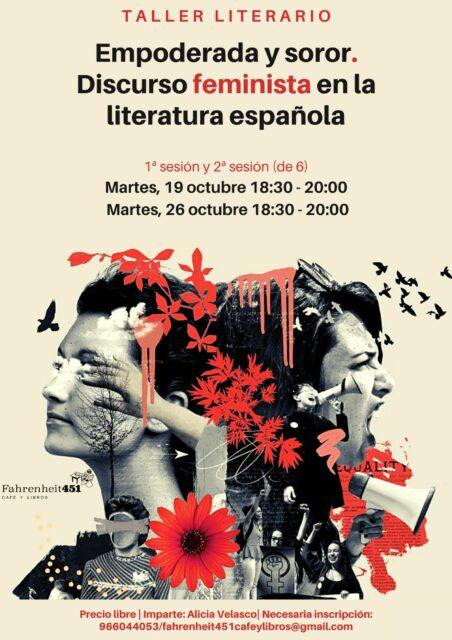 Empoderada y soror. Discurso feminista en la literatura española @ Fahrenheit451 Café y Libros